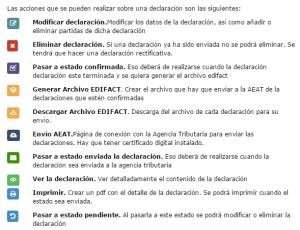 Intrastat Online. Acciones declaraciones INTRASTAT